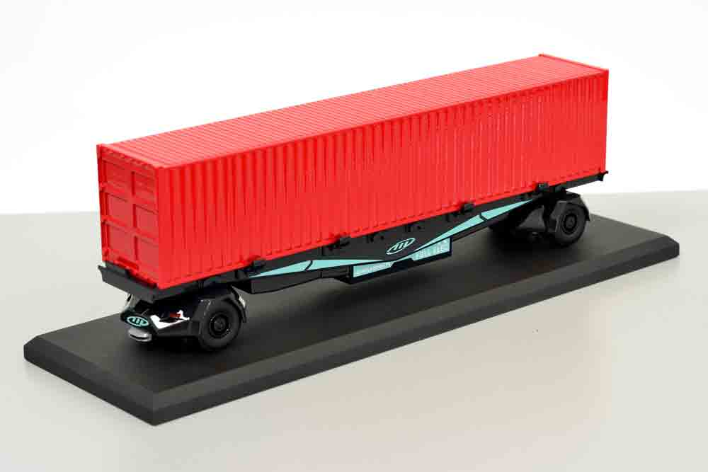 maquette remorque route container gaussin