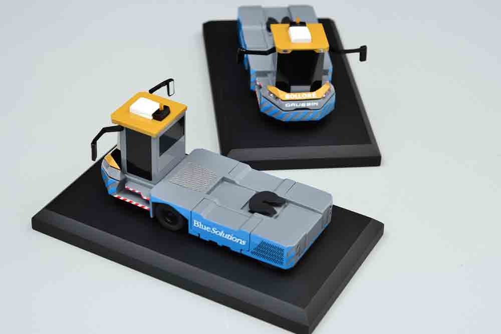 maquette tracteur aeroportuaire container gaussin